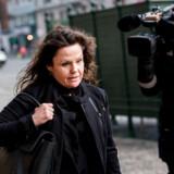 Peter Madsens forsvarsadvokat Betina Hald Engmark ankommer før procedure i ubådssagen i Københavns byret mandag d. 23. april 2018.