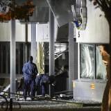 En eksplosion fandt sted lidt over midnat onsdag på politistationen i svenske Helsingborg.