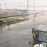 Tyfon har ramt den centrale og sydlige del af Vietnams kyst. Her er det byen Nha Trang. Reuters/Social Media