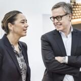 Scandinavian Tobacco Groups CEO Niels Frederiksen (th.) og CFO Sisse Fjelsted Rasmussen (tv.)