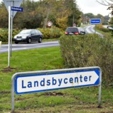 Billede fra den lille landsby Trekroner ved Brovst i Nordjylland.