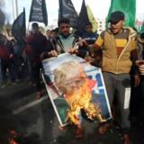 USA's præsident, Donald Trump, besluttede tidligere på måneden at anerkende byen som Israels hovedstad. REUTERS/Ibraheem Abu Mustafa