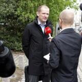 Østre Landsrets Nykøbing Falster-afdeling, onsdag den 17. maj 2017. Forsvarer Michael Juul Eriksen ankommer til retten.