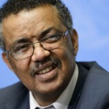 Etiopiens tidligere udenrigsminister er ny WHO-leder Verdenssundhedsorganisationen WHO har valgt Etiopiens tidligere udenrigsminister, Tedros Adhanom Ghebreyesus, som ny generaldirektør, skriver Reuters.Se RB kl.19.07 d. 23.05.2017 (FILES) This file photo taken on May 24, 2016 shows Ethiopian Minister of Foreign Affairs Tedros Adhanom Ghebreyesus attending a press conference to launch his candidacy to the post of Director General of the World Health Organization (WHO), on the sidelines of the WHO's annual assembly, in Geneva. Tedros was elected as new Director General of the World Health Organization (WHO) on May 23, 2017. / AFP PHOTO / FABRICE COFFRINI