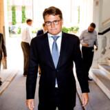 Erhvervsminister Brian Mikkelsen orienterer onsdag formiddag den 21. juni 2017 om en ny politisk aftale om bekæmpelse af hvidvask, der ventes indgået mellem et bredt udsnit af Folketingets partier.. (Foto: © Uffe Weng/Scanpix 2017)