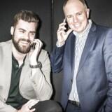 Det er kun få måneder siden, at Morten Strunge (til venstre) stiftede det nye teleselskab Plenti sammen med Fullrate-medstifter Peter Mægbæk (til højre). De seneste par uger er det dog Storytel i Sverige, som Morten Strunge har haft i røret inden dagens salg. Arkivfoto: Asger Ladefoged