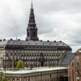 Christiansborg fotograferet fra Nationalbanken.