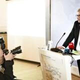 Peter Taksøe-Jensen holder pressemøde om den udenrigspolitiske udredning i Eigtveds Pakhus mandag den 2. maj 2016.