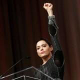 Det amerikanske Time Magazine har kåret »tavshedsbrydere« i forbindelse med #MeToo-kampagnen mod sexchikane som »Årets Person«. På billedet ses skuespiller Rose McGowan, som har været en af frontpersonerne i kampagnen.