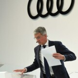 Audis nu suspenderes topchef Rupert Stadler blev anholdt efter, at poliet både havde ransaget hans hjem i Ingolfstadt i det sydlige Tyskland og aflyttet topchefens telefon. Foto: AFP PHOTO / Christof STACHE