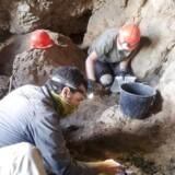 Arkæologer arbejder i den 12. hule (IAA). EPA/CASEY L. OLSON and OREN GUTFELD HANDOUT EDITORIAL USE ONLY/NO SALES