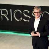 Ericssons nye topchef, Börje Ekholm, har fået sin sag for, og den store spareplan koster dyrt. Arkivfoto: Pontus Lundahl, AFP/TT/Scanpix