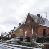Genrebillede af villaer i et villakvarter i Brønshøj.