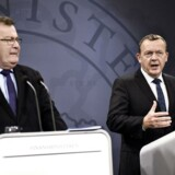 Det er svært at forestille sig, at Lars Løkke Rasmussen (th.) vil præsentere en ny regering uden den garvede Claus Hjort Frederiksen (tv.) som minister. Arkivfoto: Mathias L. Bojesen