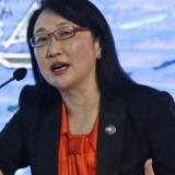HTCs medstifter og bestyrelsesformand, Cher Wang, overtager roret i den pressede mobilgigant. Arkivfoto: Dennis M. Sabangan, EPA/Scanpix
