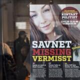 Det er et år siden, at Emilie Meng forsvandt fra Korsør station natten til 10. juli 2016. Scanpix/Jens Nørgaard Larsen/arkiv