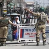 Billede fra den omstridte region Kashmir, som deles mellem Indien og Pakistan.