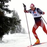 Martin Møller kunne ikke leve op til præstationen fra OL for fire år siden i fredagens 15 kilometer fristil i Pyeongchang. Scanpix/Claus Fisker
