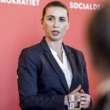 Socialdemokratiets formand Mette Frederiksen præsenterer udlændingeudspil i partiets gruppeværelse på Christiansborg, mandag den 5. februar 2018..