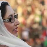 Et af de sidste billeder, der blev taget af Benazir Bhutto før hun blev dræbt torsdag. Foto: Reuters