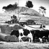 En NATO-øvelse i Nordsjælland i januar 1981. Hvor stor var faren for sovjetisk aggression? Meningerne er delte. Fotografi fra bogen.