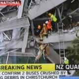 Et kraftigt jordskælv i byen Christchurch i New Zealand har kostet mindst 65 mennesker livet. Jordskælvet blev målt til 6,3 på richterskalaen og har skabt store ødelæggelser.