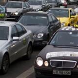 Taxiholdeplads ved lufthavnen