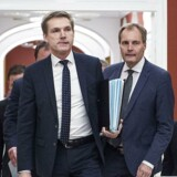 Kristian Thulesen Dahl og Peter Skaarup ankommer til statusmøde med blå blok i Statsministeriet torsdag d. 14. december 2017.. (Foto: Sarah Christine Nørgaard/Scanpix 2017)