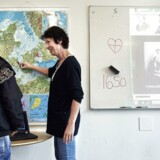 Sproglærerinde Susanne Clausen undeviser. ISS har brugt den nye integrationsgrunduddannelse i Kalundborg flittigt.