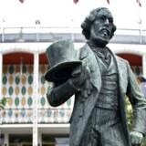 Statue af Tivoli grundlæggeren, Georg Carstensen. Snart får grundlæggeren en plads på Frederiksberg opkaldt efter sig.