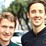 Mathias Søndergaard tv. og Jakob Baslev, de to stiftere af Rokoko, har skabt hype om deres motion-capture dragt i USA.