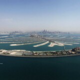 Den palmeformede ø Palm Jumeirah i Dubai.