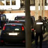 Arkivfoto fra en politiaktion mod rockerborgen på Siljangade på Amager i København. (Arkiv)