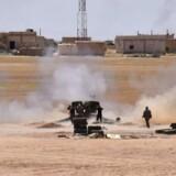 Ifølge organisation, der følger krig i Syrien, har IS generobret områder, som det tidligere har tabt i Raqqa. / AFP PHOTO / George OURFALIAN