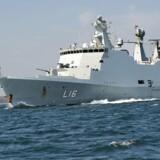 En ulykke ombord på krigsskibet Absalon har haft døden til følge for en marineoverkonstabel. Arkivfoto.