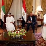 Udenrigsministre fra Saudi-Arabien, Bahrain, De Forenede Arabiske Emirater og Egypten mødtes onsdag for at diskutere deres boykot af Qatar. Foto: REUTERS/Khaled Elfiqi/Pool