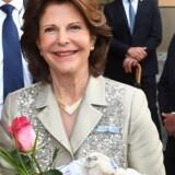 Dronning Silvia deltog onsdag i De gamles dag. Scanpix/Tobias Hase
