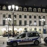 Tyveriet fandt sted på luksushotellet Ritz i Paris.