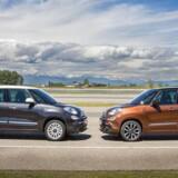 Den faceliftede Fiat 500L kommer igen i to længder. Den normale med fem sæder og den 14 cm længere Wagon med syv sæder