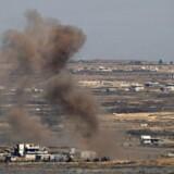 Det er anden dag i træk, at Israel gengælder beskydning fra Syrien.