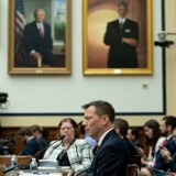 FBI-agent Peter Strzok afgiver forklaring i Kongressen torsdag. Saul Loeb/Ritzau Scanpix