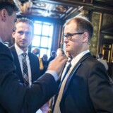 Mads Lundby Hansen (th.) fra den borgerligt-liberale tænketank, Cepos.