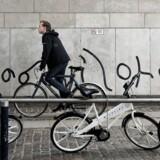 De gamle bycykler i KBH. De nye bycykler er derimod udstyret med tablet og motor.