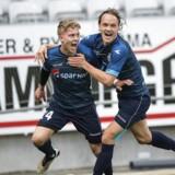 FC Helsingør kunne glæde sig tirsdag eftermiddag, da klubben fik dispensation til at spille superligafodbold på Helsingør Stadion. / Scanpix 2017