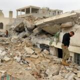 Syrien godkender FN-hjælp med lastbiler til kurdisk by. REUTERS/Ammar Abdullah