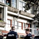 Billedet er taget under politiaktionen i Brøndby Strand-kvarteret torsdag den 21. september 2017. Her blev to personer, en mand og en kvinde, anholdt. Manden er fredag fremstillet i grundlovsforhør.