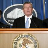 Christopher Wray (til venstre) er præsident Donald Trumps valg som ny FBI-direktør. (Arkivfoto) Scanpix/Stephen Jaffe