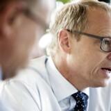 Nykredits koncernchef Michael Rasmussen skal have forklaret potentielle investorer om koncernens store swapeksponering.