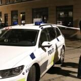 Arkivfoto: Politifolk i Griffenfeldsgade på Nørrebro har onsdag 8. november 2017.