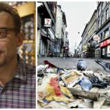 Butiksejer på Strøget gennem årtier, Nikolaj Nielsen, har fået nok af, at Strøget er hærget af tricktyverier, sigøjnere, affald, bræk og opkast.
